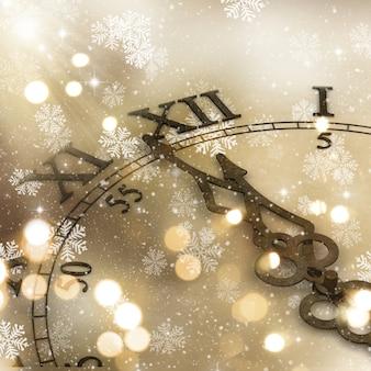 Dekorative Uhr Hintergrund für das neue Jahr