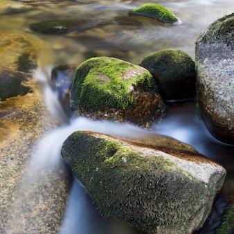 Der Fluss mit verwaschenem Wasser