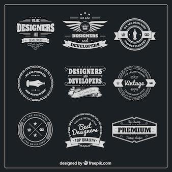 Designer Abzeichen packen