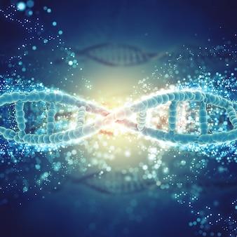 DNA in einer mikroskopischen Ansicht