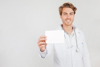 Doktor mit Testergebniskonzept