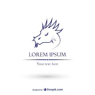 Drachen-Logo-Vorlage Vektor