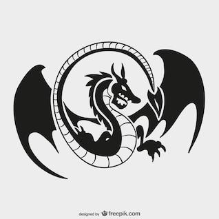 Drachen-Logo-Vorlage