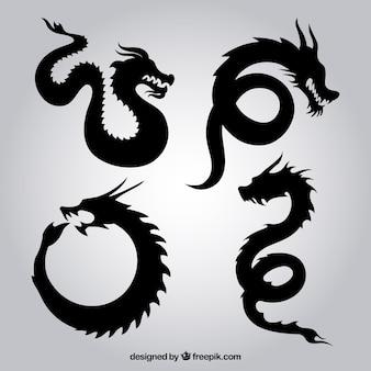 Drachen Silhouetten