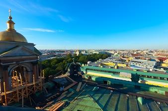 Draufsicht auf St. Petersburg