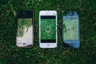 Drei ringe auf deinem telefon
