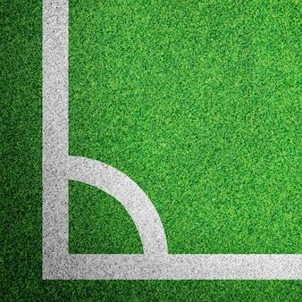 Ecke eines Fußballfeldes