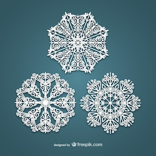 Eleganten weißen Schneeflocken
