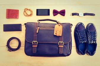 Eleganz sackt Handtasche stilvollen männlichen