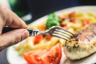 Essen eine köstliche Mahlzeit