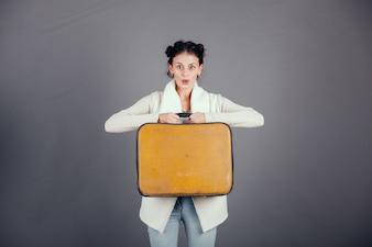 Executive Mädchen junge professionelle Flughafen
