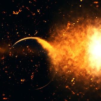 Explosion im Raum