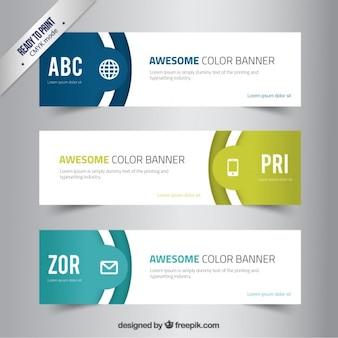 Fantastische Farbe Banner