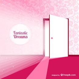 Fantasy Tür für Träume Vektor-Illustration
