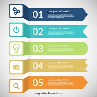 Farbige Banner Infografik