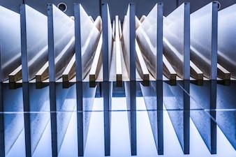 Fassade Wand blau Struktur Wolkenkratzer