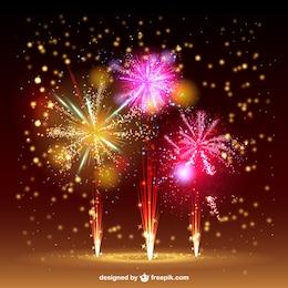 Feuerwerk Vektor Himmel