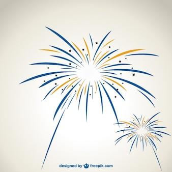 Feuerwerk Vektorgrafiken