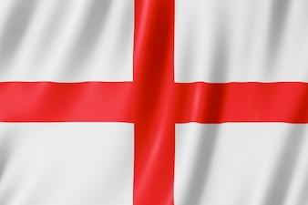 Flagge von England - St George's Cross. 3D-Darstellung der England-Flagge winken.