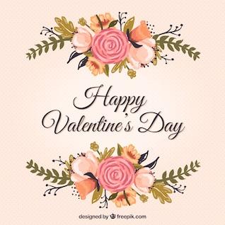 Floral Valentinstag-Karte