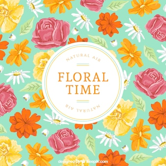 Floral Zeitkarte