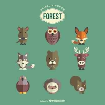 Tiere des Waldes gesetzt