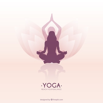 Frau meditiert in einem Lotus-Yoga-Position