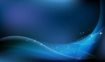 freie abstrakte blaue Hintergrund Vektor-Grafik