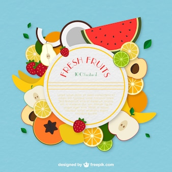 Frisches Obst-Label
