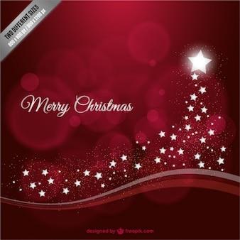 Frohe Weihnachten Hintergrund mit Sternen