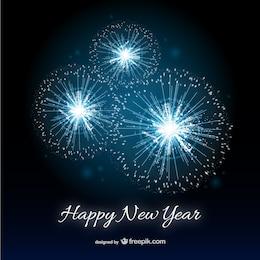 Frohes Neues Jahr-Karte mit Feuerwerk