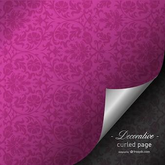Fuchsia gekräuselten Seite Design