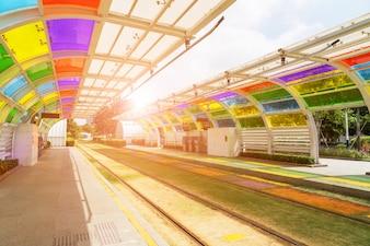 Futuristische Ladung Elektrizitätspark Energie