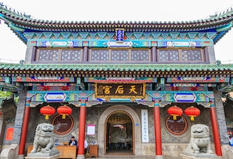 Gebäude Wahrzeichen Glas chinesischen Tempel im Freien