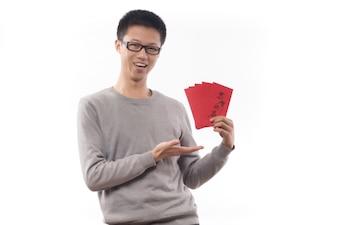 Geld Menschen cheongsam eine Mandarine