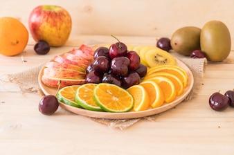 Gemischte geschnittene Früchte