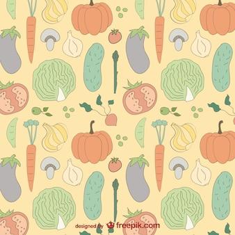 Gemüse bunte Muster