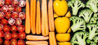 Gemüse sortiert nach Typ