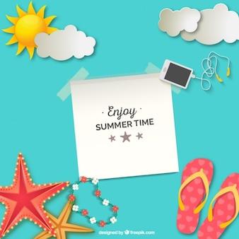 Genießen Sie Sommerzeit Hintergrund