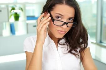 Geschäftsfrau Beruf Job Brille