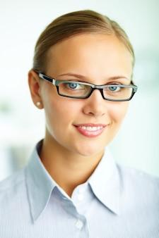 Geschäftsleute professionelle Vision Frau Make-up