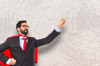 Geschäftsmann gekleidet wie Superheld
