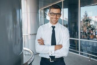 Gesicht lässig Manager Kommunikation Mann