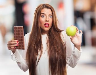 Gewohnheiten Diät Wahl person portrait