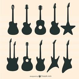 Gitarren Vektor-Set