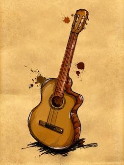 Gitarrenmalerei Bild