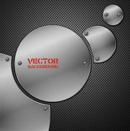 Glänzend Stahlplatten in runde Form
