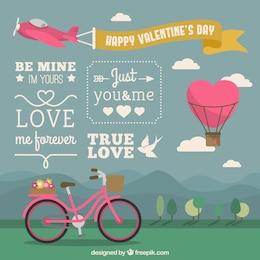 Glückliche Valentinstag-Abdeckung