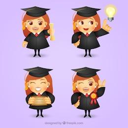 Graduate Mädchen Charakter