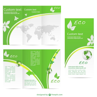Grün brochurevector kostenlose Vorlage